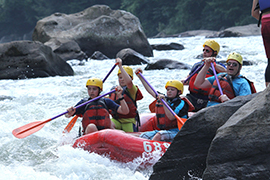 Boy Scouts white water rafting